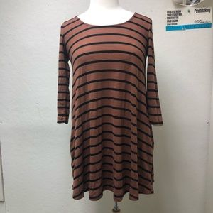 UO Striped A-Line Dress